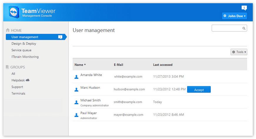 Переключение компьютеров в TeamViewer Management Console