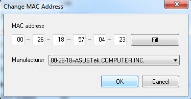 поменять мак адрес