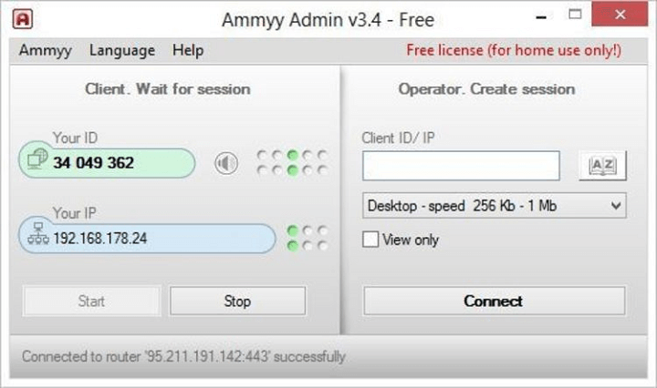 Программа Ammyy-admin