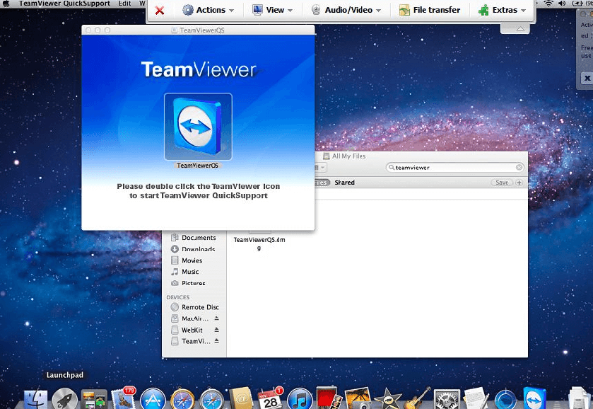 Team Viewer на MacOS