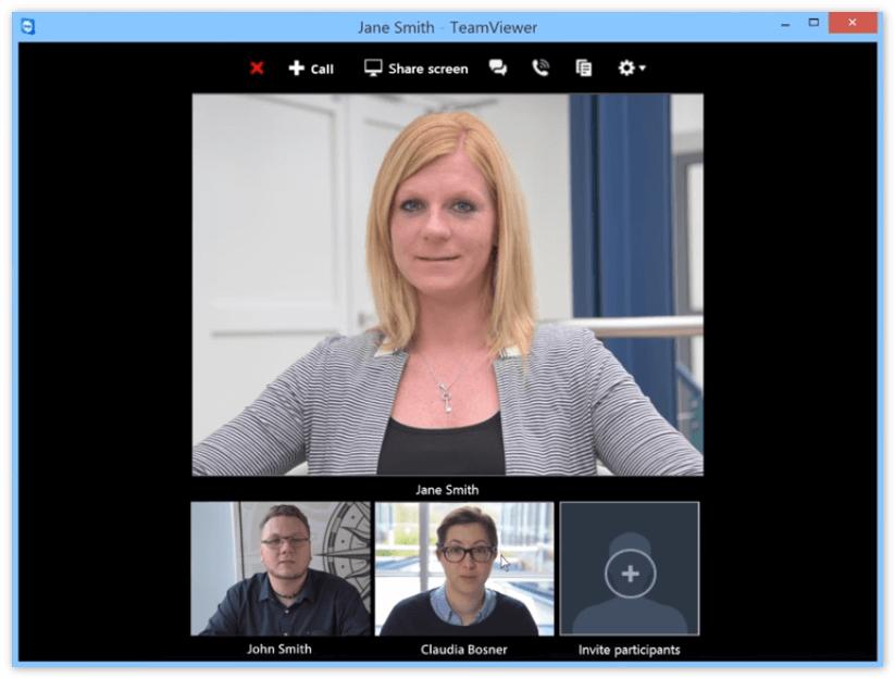 Видеосвязь в TeamViewer QS