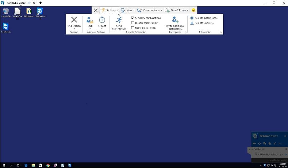 TeamViewer11 экран