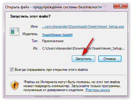 Установка Team Viewer на PC