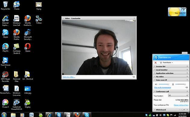 видеоконференция в team viewer
