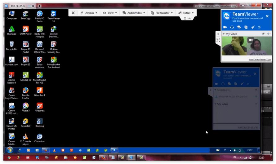 Видеозвонок в TeamViewer