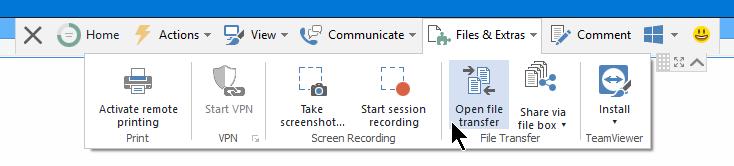 File Transfer TeamViewer