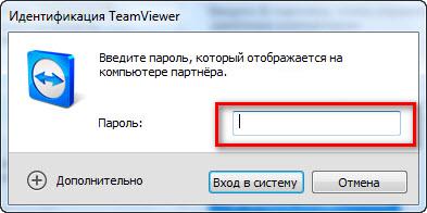 Пароль для входа TeamViewer